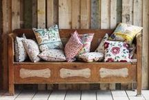 Fabrics & Cushions / Two very British brands have come together this Spring, as Sanderson launch a collection of fabrics and cushions featuring some of our most iconic patterns; they are a perfect reflection of the warm-hearted, cheerfully informal style which has inspired our pottery for so many years. http://www.emmabridgewater.co.uk/icat/sanderson