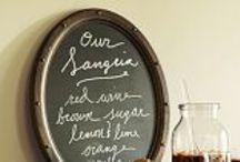 Home: Decor: Chalkboards/Organization / by Kristen Statema