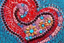 Mosaik / Mosaik aus allen möglichen- und unmöglichen Dingen