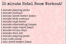 Hotel Room Workouts / Traveling is no longer an excuse not to workout! Break a sweat using one of these great workouts from across the web which require no equipment!