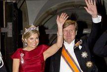 Dutch king William and Queen Maxima