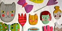 Art activities for kids - Paper and Cardboard projects