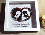Quadros Pedras Preciosas / Quadros decorativos feitos com pedras naturais brasileiras.  Ótima opção para decorar e presentear!