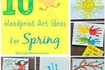 Use your hands and fingers / These are crafts done with fingers and hand stamping! All you need is an inkpad and paper! and maybe some markers... Kids and adults will enjoy these...