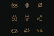 basics :: icon + pictogram / icon : pictogram : glyph : dingbat : sets : user : interface : ui : web : digital : interactive : mark : logo : simple : graphic : design / by sun yun