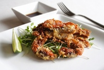 Crab, soft shell goes with... / All things glorious that go well with soft shell crab.