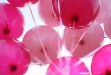 :: B A L L O O N S :: / #balloons #lights #pink #pastel / by E l e n a