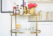 Bar Cart / A home isn't complete without a luxury libation station.  / by Christina Stiehl