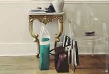 Loving Lucite / Can't get enough of lucite trays, chairs, end tables and magazine racks. Must. Have. More. / by Christina Stiehl