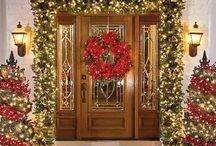Christmas front door decor / by Mignonne Hubina
