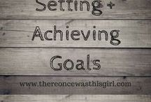 Setting + Achieving Goals / http://www.thereoncewasthisgirl.com || If you'd like to be added as a contributor to this board, please follow me then email your request to shaylahcoogan@thereoncewasthisgirl.com. :)