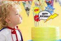 Celebrations -- Super hero party / Go home a hero!  Brainstorming ideas for a super hero birthday party for children.