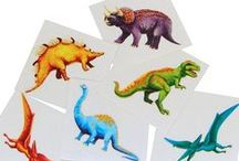 Celebrations -- Dinosaur party / Rawr!  Travel back in time to the land of dinosaurs with these ideas for a stone age theme birthday party for children.