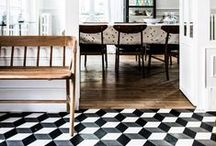 Wall & Flooring Ideas / A beautiful selection of wallpaper, flooring & tiles, different textures, colours and shapes. Perfect for bathrooms and kitchens.