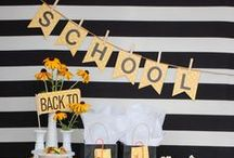 Celebrations -- Back to School / Ideas for a beautiful back-to-school bash