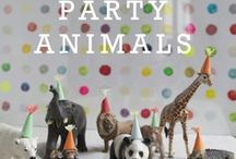 Celebrations -- Animal party / Lions, tigers & bears!  Oh my!  Inspiring décor for a zoo, safari, or other animal-themed children's party.