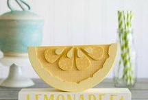 Child's Play -- Lemonade Stand / A lemonade stand is in our future this summer.  We are loving these ideas -- both practical and pretty.