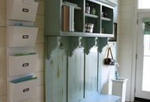 Mud Room Ideas / Mudroom, entryway, back door ideas for organizing a family and our daily messes. jessconnell.com