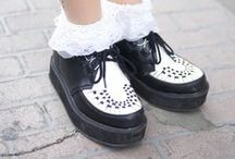 Creeping with creepers / We have all kind of creepers. Do you like 'em in black, colourful, with prints or studs? Go check them all out here http://www.attitudeholland.nl/haar/schoenen/creepers/