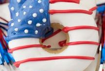 4th of July + Memorial Day / 4th of July, Red, White and Blue crafts, recipes, ideas and decorations for your 4th of July party or Memorial Day event.