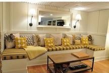 Family Room / Modernize the family room. Brighten it up. Paint that damn paneling! / by Judi Micoley