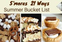 S'mores / I love s'mores and I love making treats with the classic chocolate, marshmallow and graham cracker taste!