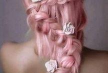 Pink Hair and Nails