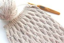 Crochet + Crochet: Stitches / For practice and inspiration / by Claudia Martin