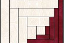 :: CABIN FEVER! / LOG CABIN BLOCKS/QUILTS / by Connie Kight