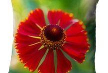 Blumenkissen / Kissen mit wunderschönen Blumenbildern von Nature to Print. Motive nach Wunsch, in drei Formaten, immer mit Inlett und Reißverschluss.