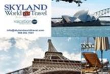 Skyland World Travel / Skyland World Travel was established in 1995. A locally owned and operated, full service travel agency with global reach. Skyland World Travel philosophy is to provide its customers with quality pricing and exceptional service.  Whether you are a leisure or business traveler, we have the experience and expertise to serve you.