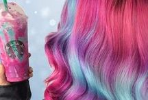 Powerful + colorful hairstyle / A selection of the most creative and colorful hairstyles of this season feat. unicorn hairstyle, glamorous cotton candy pink and the lastest rainbow look. #trend #hairstyle #colorful #powerful #dontmissit #jointhetrend #lovetermix #lovemyhair