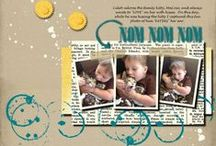 Sunny Girl Scrapbook Ideas / This is a compilation of digital and traditional scrapbook pages that I've created.
