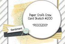 Sketches: Paper Craft Crew / Sketches and Page Maps were created for the Paper Craft Crew Challenge blog.  You can find our blog and participate in the challenges by visiting www.papercraftcrew.com
