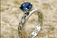 Engagement / Wedding Rings / Things to keep in mind: I like my main stones round or oval (but not square or marquise). I love sapphires! Even a garnet or emerald might be ok. Vintage/antique is good (or something that looks vintage). I don't want a super skinny band. Or a halo. Or infinity signs. And nothing that sticks up too much. Also, not a fan of titanium or dark wedding bands for the groom (or bride, for that matter).  But sentimental/historical value can trump any of the aforementioned considerations. / by Frances Doyle