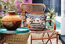 Bohemian Patio and Garden inspiration board / A mood board for our garden. To create an inspiring and colorful garden and patio. All inspired by the bohemian style.