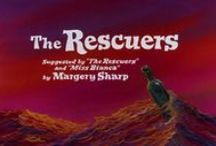 "THE RESCUERS,1977+DOWN UNDER,1990 / Two mice of the Rescue Aid Society search for a little girl kidnapped by unscrupulous treasure hunters.  DIRECTORS: John Lounsbery, Wolfgang Reitherman;  WRITERS: Margery Sharp (suggested by ""The Rescuers"" and ""Miss Bianca"" by), Larry Clemmons (story);  STARS: Bob Newhart, Eva Gabor, Geraldine Page"