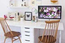 Home office inspiration / Because home offices should be just as pretty as the rest of your home!