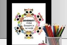 Diversity / Idea's on how to put diversity into your libraries and classrooms.
