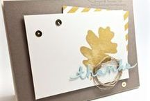 Thank You / Handmade paper craft projects featuring a Thank You Theme using Stampin' Up! products
