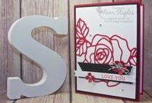 Valentines Day / Handmade paper craft projects featuring a Valentine Theme using Stampin' Up! products