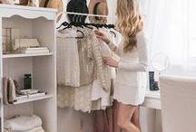 Walk in closet ideas / If I ever have the room in my home for a walk in closet, these pretty walk in closet ideas will be my inspiration!