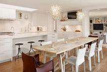 Home: Eat-in Kitchens / An eat-in kitchen is beyond practical. It creates a gathering place for family, friends and food. / by Lexie's Kitchen & Living