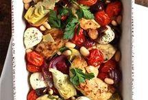 Dinner On A Sheet Or Roasting Pan / by Linda Gadzinski