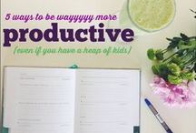 I love PRODUCTIVITY (even with a heap of kids) / FOR MUMS WITH BIG DREAMS!