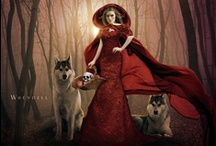 """Red Riding Hood  ✿⊱╮ / """"Little Red Riding Hood was my first love. I felt that if I could have married Little Red Riding Hood, I should have known perfect bliss."""" Charles Dickens"""