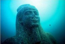 Sunken Egypt / Inspiration for The Dark Queen, a short story based on the sunken city of Thonis / Herakleon, off the north coast of Egypt. Published in Feel The Fear anthology, Oct 2017. https://jfpenn.com/book/fiction-river-feel-the-fear/