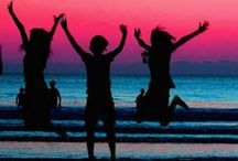 summer / Hold the sand, Hug the sky... Dare to dream, I can fly...