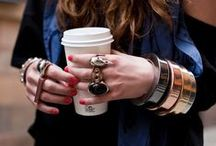 Trend Spotting | Arm Party / Trend Spotting armful of accessories, jewelry, bangles, bracelets, in Style and Fashion.