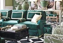 Color Stories | Emerald / Trend Spotting Emerald Green Interiors in Design, Home Decor, Art, Accessories, Style and Fashion. Featured: Pantone Color of the Year 2013 Emerald Green Color Palettes